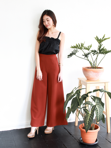 Ford Palazzo Pants in Rust