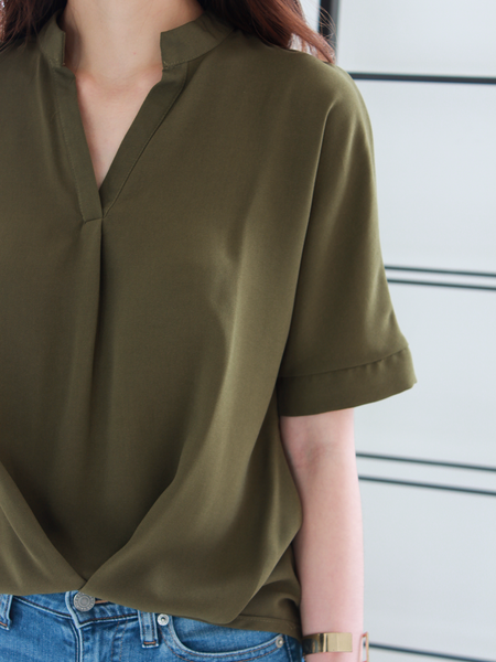 Hemsworth Relax Shirt in Olive | *MADEBYWC