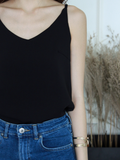 (BACKORDER) Nate V-neck Basic Top in Black