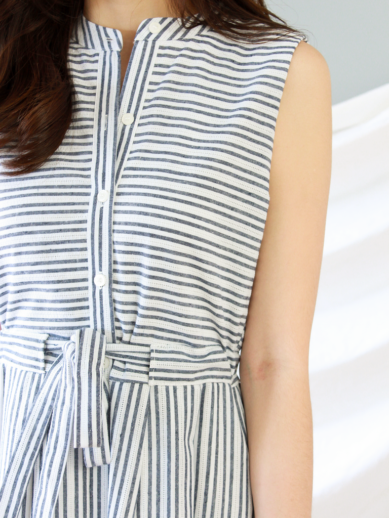 Shermaine Striped Midi