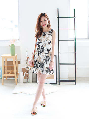Glen Printed Shift Dress