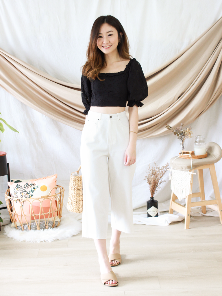 Kassidy Culottes in White