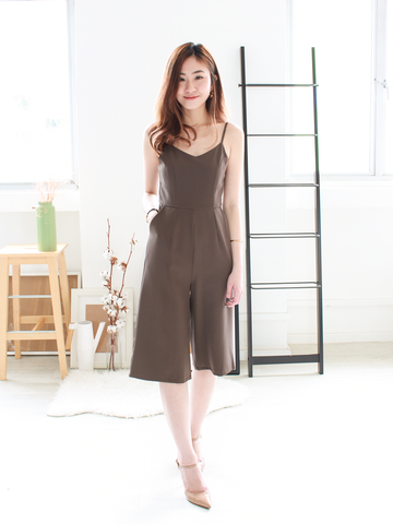 Philippe Culottes Jumpsuit in Cocoa