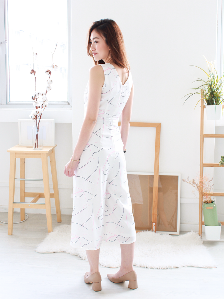 c9d9894275a4 ... Pablo Abstract-Printed Jumpsuit in White ...