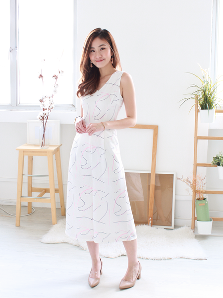 Pablo Abstract-Printed Jumpsuit in White