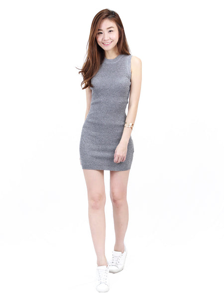 Basic Sleeveless Ribbed Dress