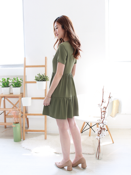 Elijah Pocket Dress in Olive