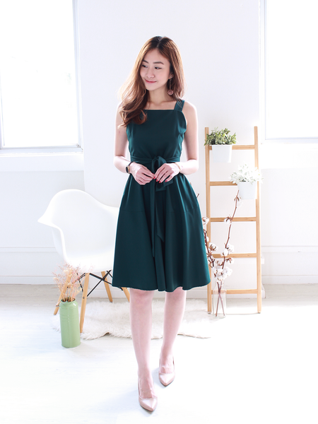 Finley Tie-sash Swing Dress