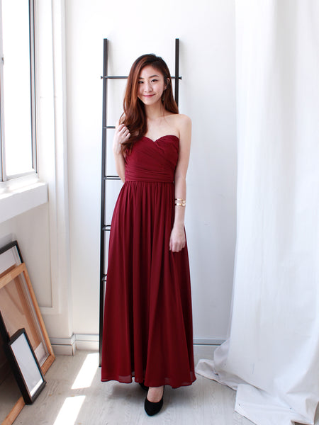 Kristen Maxi Dress in Wine | *MADEBYWC