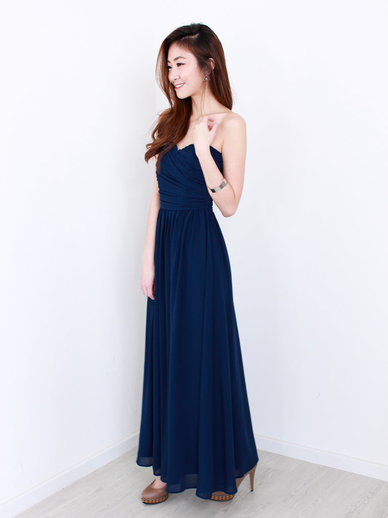 Kristen Maxi Dress in Navy | *MADEBYWC