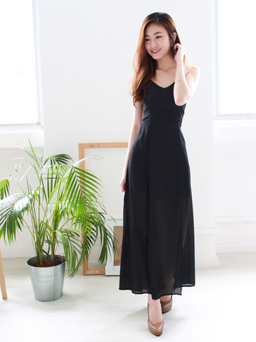 Alixia Summer Dress in Black | *MADEBYWC