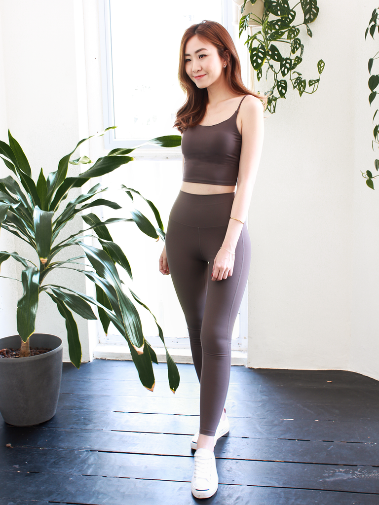 Ryder High Rise Tights in Coffee