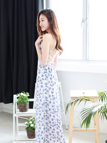 Alixia Summer Dress in White Floral | *MADEBYWC
