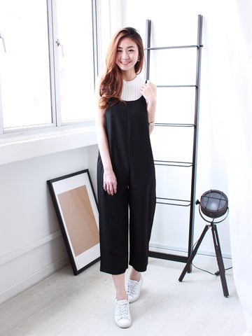 Yasmine Pocket Jumpsuit in Black