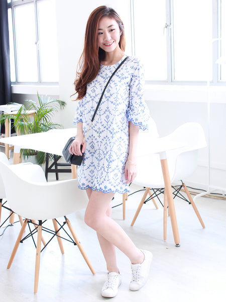 Lilymae Embroidered Dress