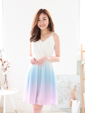 Adah Ombre Dress in White