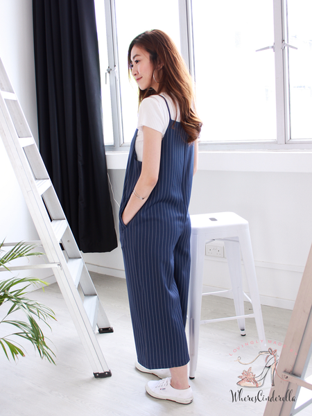 Yasmine Pocket Jumpsuit in Stripe | *MADEBYWC