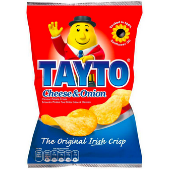 Tayto Cheese and Onion | Box of 25 Packets (45g)