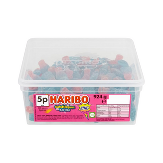 Haribo Bubblegum Bottles Zing | Tub of 120 Pieces