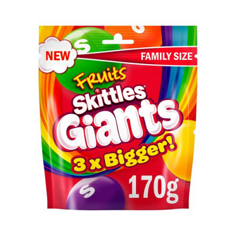 Skittles Fruits Giants Pouch | 14 x 170g