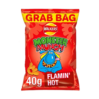 Monster Munch Flamin' Hot | Box of 30 Packets (40g)