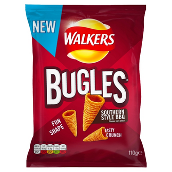 Walkers Bugles Southern Style BBQ Snacks 12 x 110g