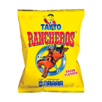 Tayto Rancheros Bacon Flavour | Box of 25 Packets (25g)
