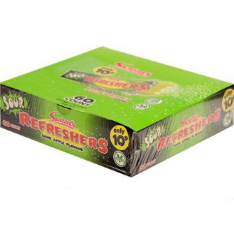60 Sour Apple flavour Refresher chew bars