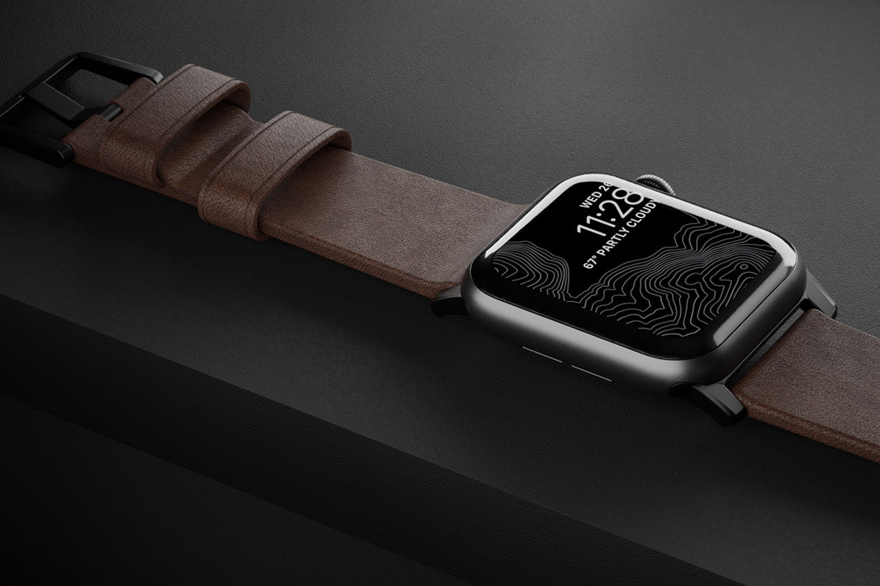 Brown Horween leather strap for Apple Watch