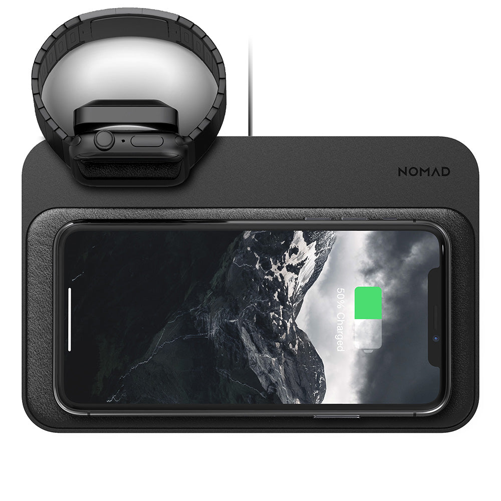 Nomad Base Wireless Leather Pad Qi Charger 3x7 5w W Apple Watch Charger 855848007601 Ebay