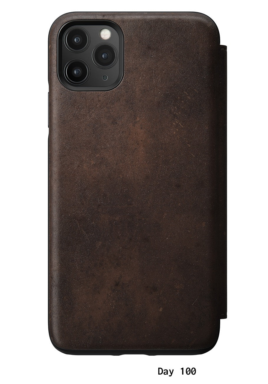 Rugged Leather Folio Case for iPhone 11 Pro Max, Brown | NOMAD®