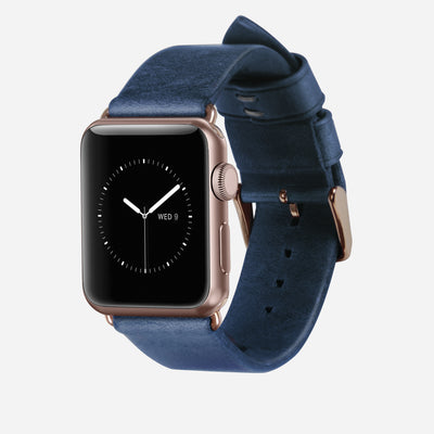 Nomad Blue Modern Leather Strap - Image 1