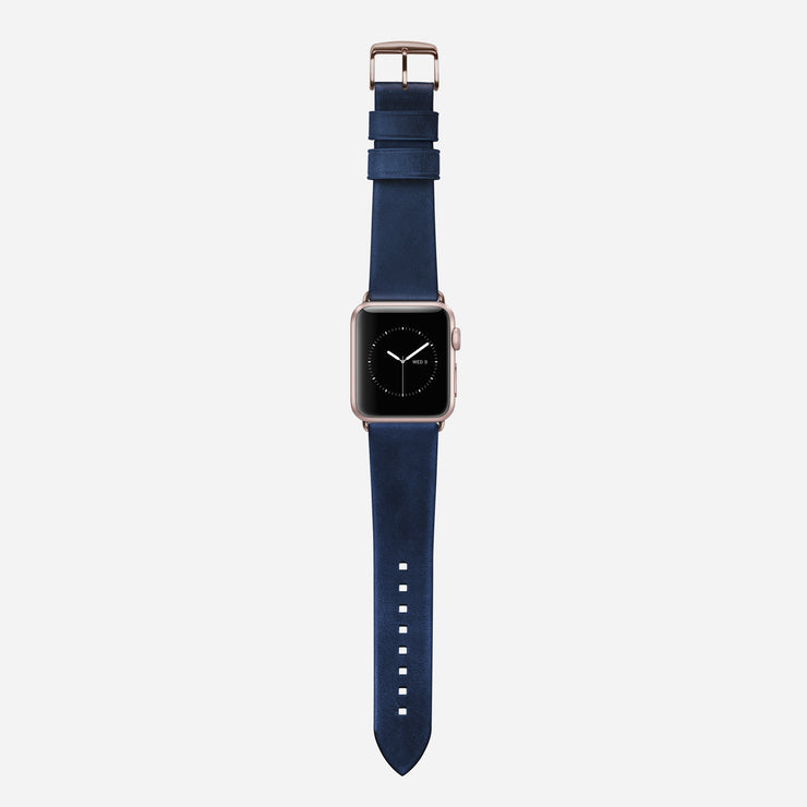 Nomad Blue Modern Leather Strap - Image 2