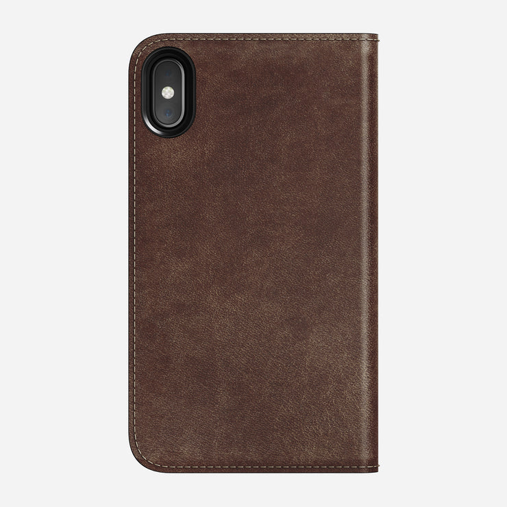 Leather Folio Case for iPhone X