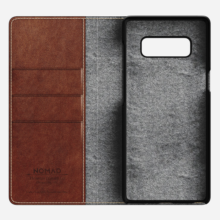 Nomad Leather Folio Wallet for Samsung Note 8 - Image 5