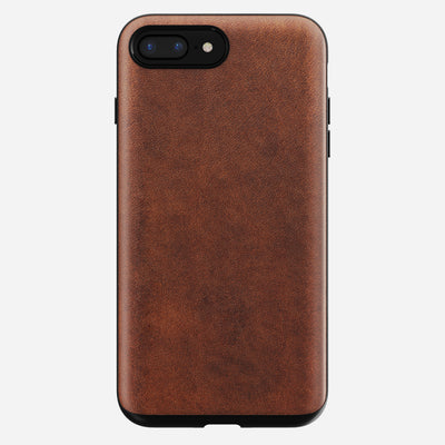 Rugged Leather Case for iPhone 8/7 Plus