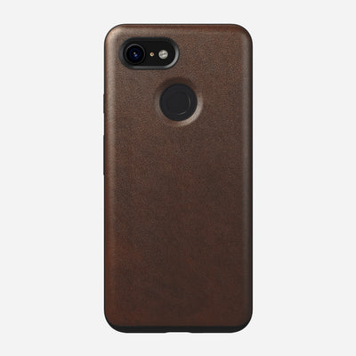 Rugged Leather Case for Pixel 3