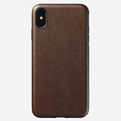 Rugged Leather Case for iPhone Xs Max, Brown