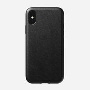 Rugged Leather Case for iPhone Xs, Black