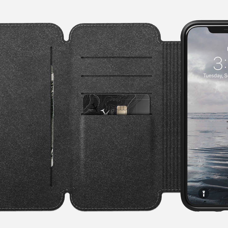 Nomad 174 Rugged Tri Folio For Iphone Xs Max Rustic Brown
