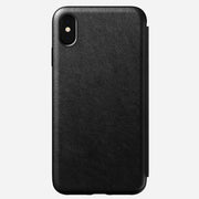 Rugged Leather Folio Case for iPhone Xs Max, Black