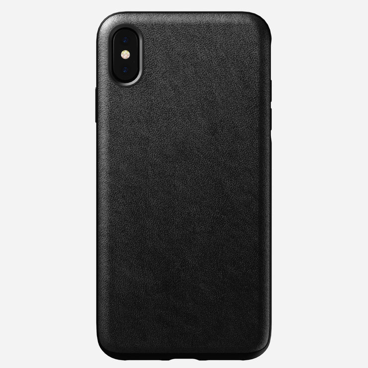 Rugged Leather Case for iPhone Xs Max, Black