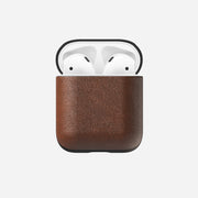 Brown Leather Airpods Case