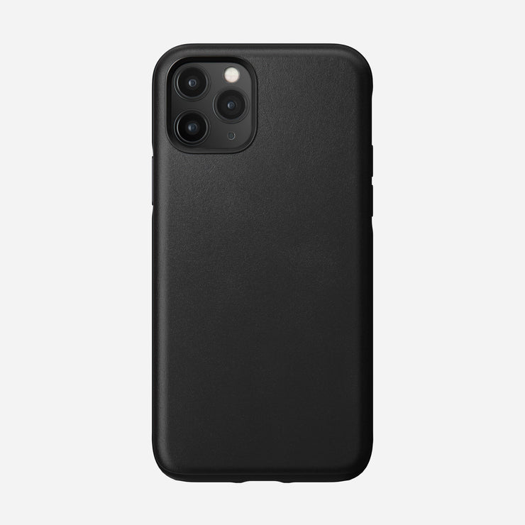 Rugged Leather Case for iPhone 11 Pro, Black
