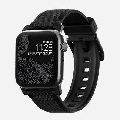 Apple Watch Silicone Band With Black Hardware