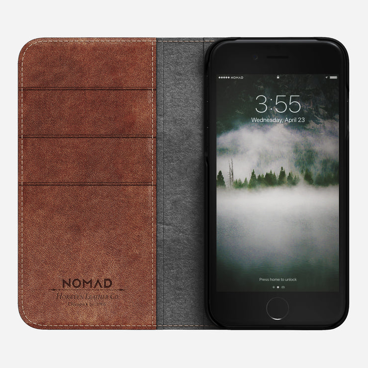 low priced e70dd 48ca5 NOMAD® | Leather Folio for iPhone 8/7