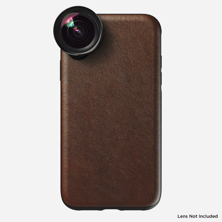 Rugged Leather Moment Case for iPhone Xr, Brown