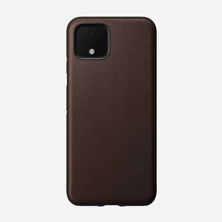 Rugged Leather Case for Pixel 4, Brown