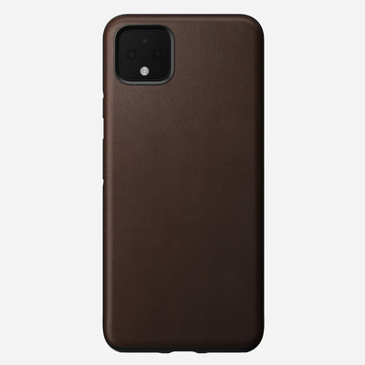 Rugged Leather Case for Pixel 4 XL, Brown