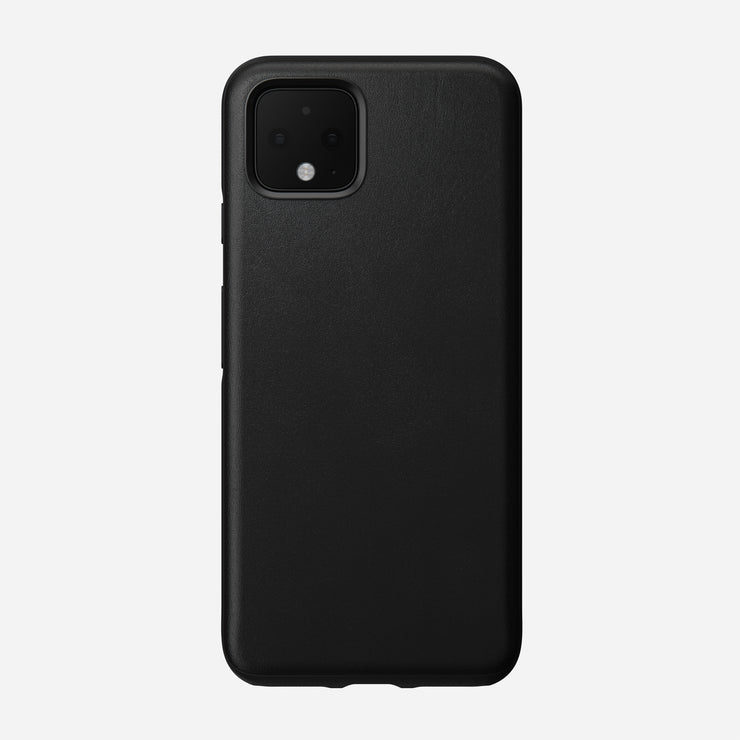 Rugged Leather Case for Pixel 4, Black
